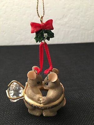 """Charming Tails """"Our First Christmas"""" Ornament"""