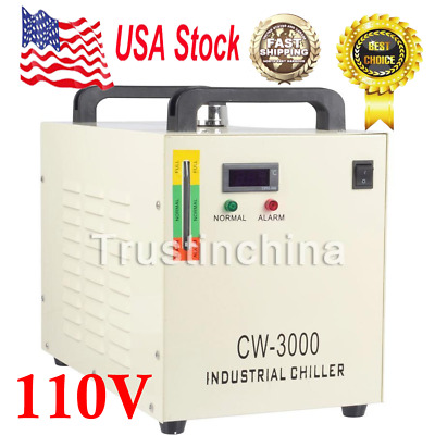 CW-3000DG Industry Air Water Chiller CO2 Laser Engraving Cutting Machine 110V