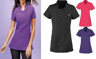 Premier Ladies Blossom Short Sleeve Therapist Spa Nail Massage Tunics