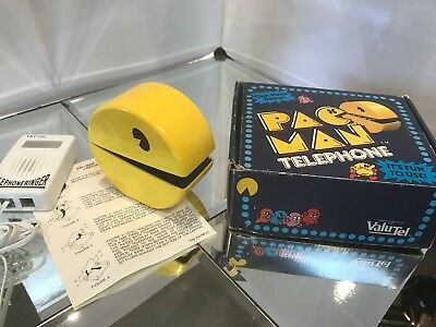 """PACMAN,Vintage 1980 Telephone  Super """"RARE"""",very Collectible New in Orig Box EC."""