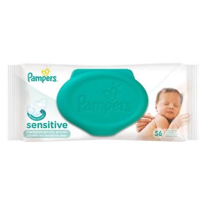 PAMPERS Lingettes Bébé Sensitive - 56 Lingettes