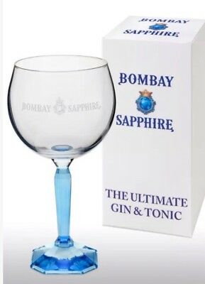 Bombay Sapphire Gin Balloon Glass New Gift Boxed.