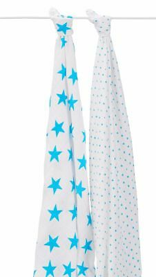 Aden + Anais Fluro Blue 2-pack Classic Swaddles 2-pack