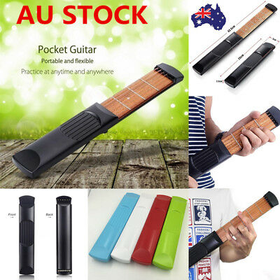 Portable Pocket Guitar 4/6 Fret Practice Tool 6 Strings Guitar Trainer  Beginner