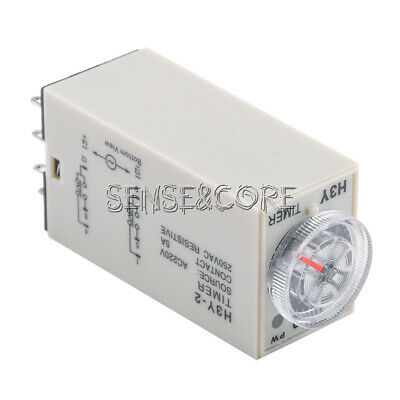 H3Y-2 220VAC Zeitschalter Zeitrelais Time Relay 0-60 Minute with Base New