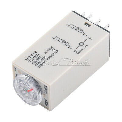 H3Y-2 220VAC Zeitschalter Zeitrelais Time Relay 0-60 Minute with Base NEU