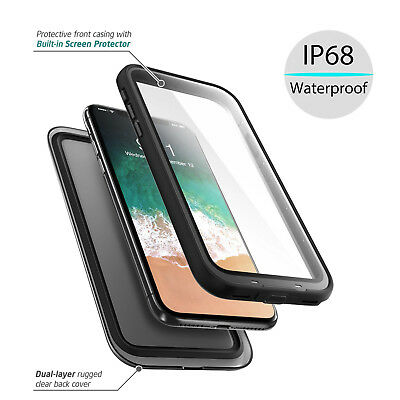 360°Full Body Protective Waterproof Slim Case iPhone X /Samsung Galaxy Note 8/S8