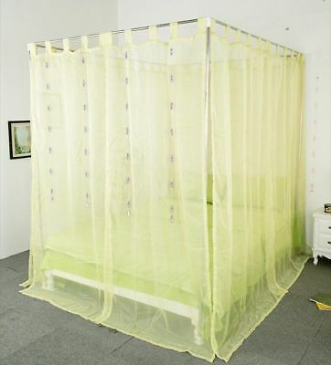 Double Green Yarn Mosquito Net Bedding Four-Post Bed Canopy Curtain Netting