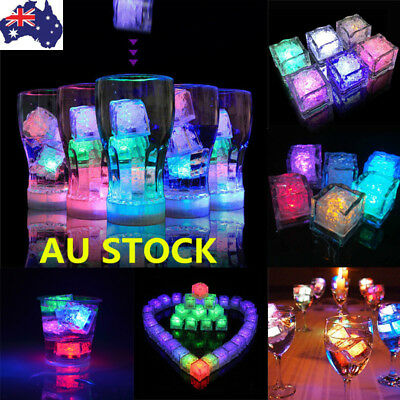12/24 Water Submersible Light Up Ice Cube Light Color Changing LED Liquid Sensor