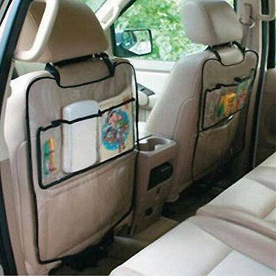 Auto Car Seat Back Protector Cover For Children Kick Mat Mud Storage Bag Clear.