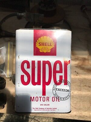 Super Shell Oil Tin Can