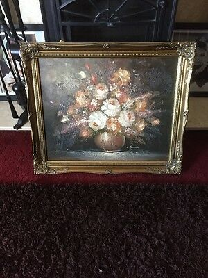 Quality Gilt Framed Still Life Oil On Canvas, Signed