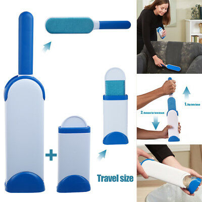 Fur Hurricane Wizard Pet & Lint Remover Brush Self-cleaning Base Travel Size AU