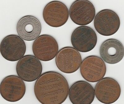 Nice Old Coins from Palestine. 1927, 1935, 1937, 1939, 1942. Free Post Aust Only