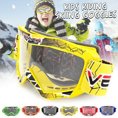 Kinder Goggle Crossbrille MX Motocross Enduro Brille verspiegelt Ski 3-8 Years