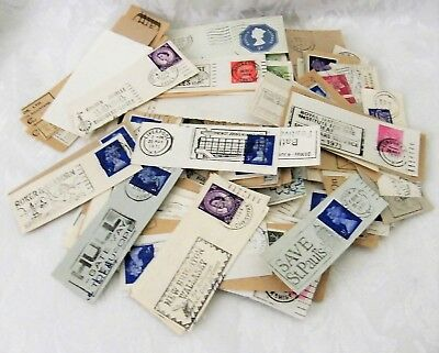 Mixed Lot of mainly UK Postmarks on Pieces, Advertising Slogans etc approx 230