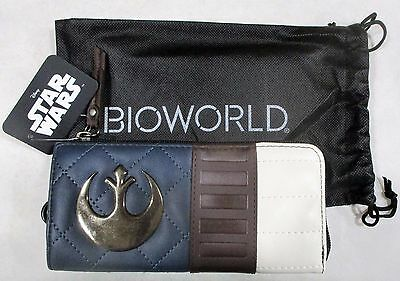 """Licensed Star Wars Han Solo """"hoth"""" Collection Zip Around Wallet For Women New!"""