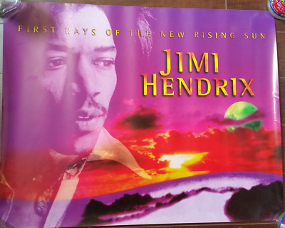 JIMI HENDRIX FIRST RAYS OF THE RISING SUN Poster, promo 1997