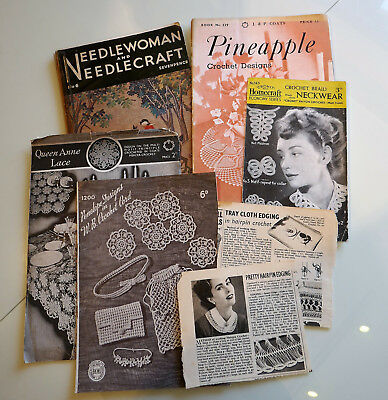 Collection of vintage crochet patterns inc Needlewoman and Needlecraft #6