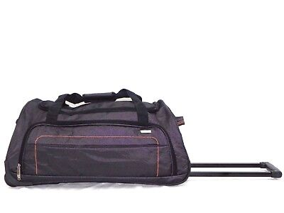 Large Holdall Duffel Travel Bag With Rolling Wheels And Handle In Grey