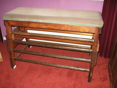Vintage wooden school gym vaulting horse