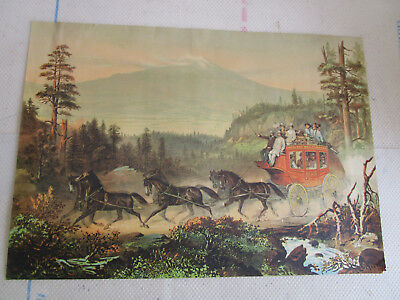 Vintage Advertising Print Overland Mail Company
