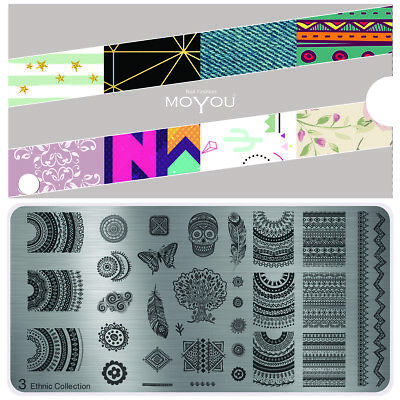MoYou Nail Fashion Stamping Nail Art Image Plate 3 Ethnic Collection mandala