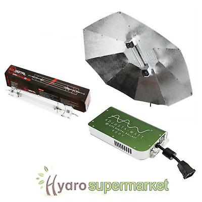 ADJUSTA WATT 1000w 400v LIGHT KIT DE, PARABOLIC SHADE AND BULB, GAVITA TYPE