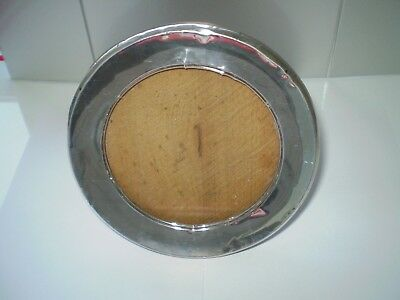 Antique Designed Hallmarked Silver Round Photo Frame' ***ideal Xmas Present***