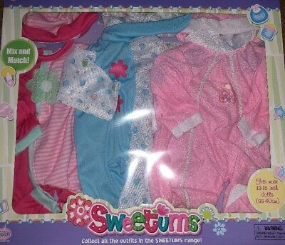 """Brand New Baby Doll Clothes Lot Wardrobe Girls Pink Outfits Fits 13"""" 14"""" 15"""" 16"""""""
