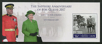 Isle of Man IOM 2017 MNH Queen Elizabeth II Sapphire Anniv 1v M/S Royalty Stamps