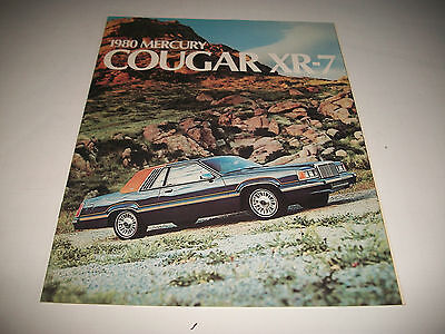1980 Mercury Cougar Xr-7 Canadian Sales Brochure Catalog No Dealer Stamp