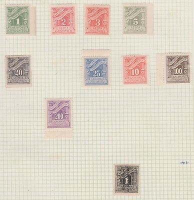 GREECE Collection 1902-1913 Postage Dues etc Old Book Pages USED per scan #