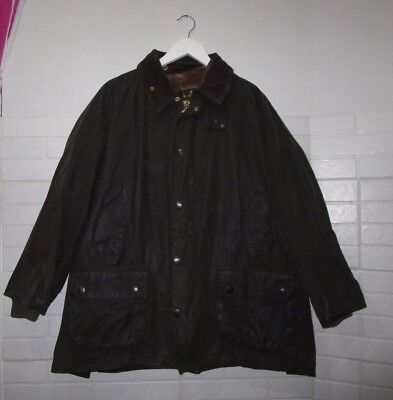 barbour bedale jacket waxed cotton + pile lining green 100%authentic c44/112 XL