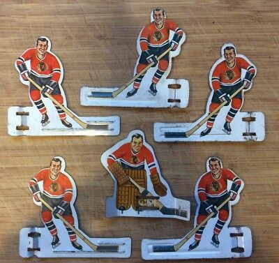 1960's Coleco Table  Hockey Players - Chicago Blackhawks