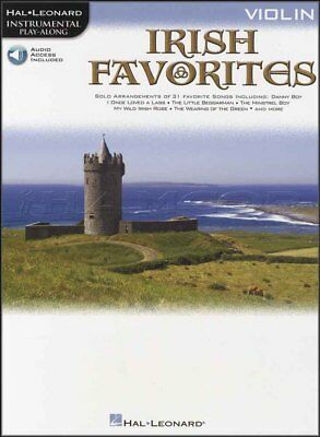 Irish Favorites Violin Playalong Sheet Music Book & Audio Danny Boy Wild Rover