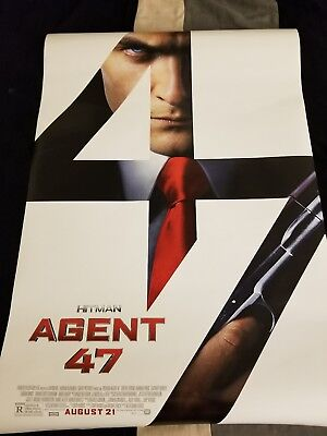 HITMAN AGENT 47 MOVIE POSTER 2 Sided ORIGINAL FINAL 27x40 ZACHARY QUINTO
