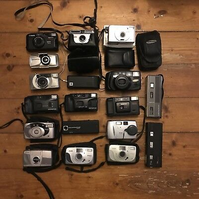 Joblot Collection Bundle Of 35mm Film APS Cameras (Olympus, minolta, Kodak, Etc)