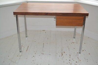 Stunning Vintage Danish Teak & Chrome Desk