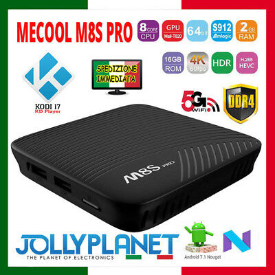 Mecool M8S Pro 2Gb 16Gb Android 7.1 Quad Core Smart Tv Box 4K Kodi Wifi Iptv