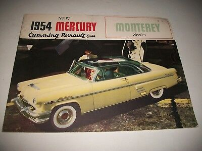 1954 Mercury Monterey Canadian Only Issue Sales Brochure  Sun Valley Convertible