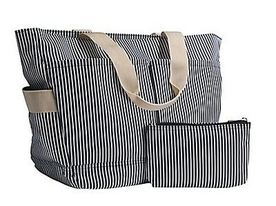 NEW Darian Tote Bag Set Striped tote bag and accessory pouch diaper bag