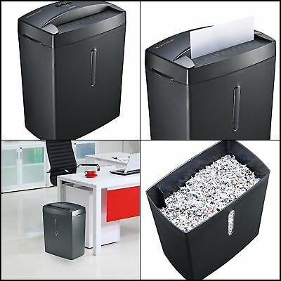 Compact 6 Sheet Cross Cut Paper Shredder Micro Cut with Basket for Home Office