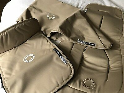 Bugaboo Cameleon 3 Tailored Fabric Set (Hood & Apron) & Seat Liner - SAND NEW!!