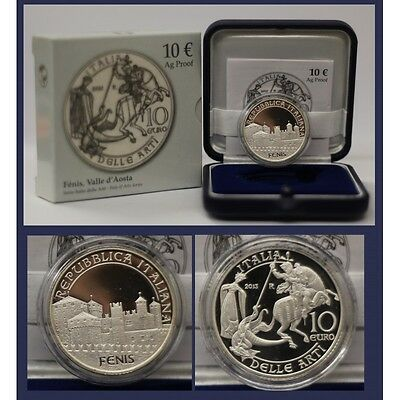 2013 Italy Coin Commemorative Fenis Valley D'aosta - Ipzs - Proof Silver