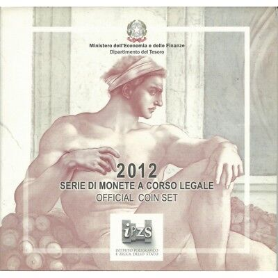 2012 Italy Serie Divisional Euro - Ipzs - 10 Coins Fdc With Silver