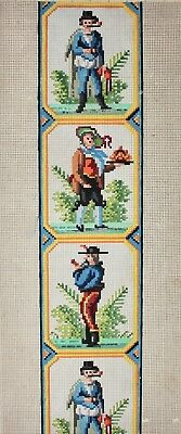 Antique 19th c. BERLIN WOOLWORK Pattern Engraving Embroidery Chart Needlepoint