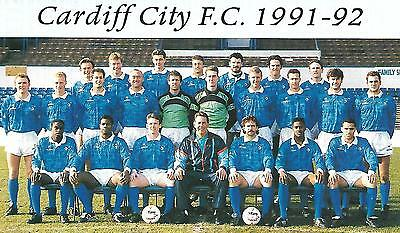 Cardiff City 1991-92 Team Photo Print.