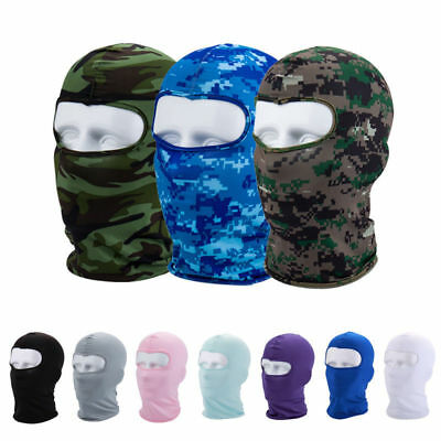 Spandex Balaclava Cold Weather Face Mask Motorcycle Neck Warmer Cycle Sports Cap
