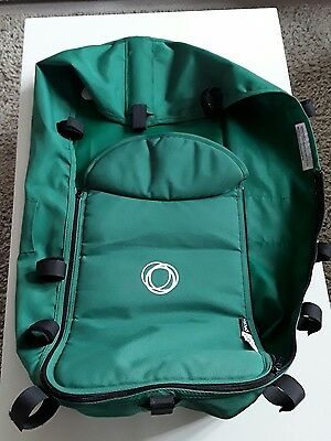 Bugaboo Gecko Carrycot  Bassinet Fabric Green Excellent